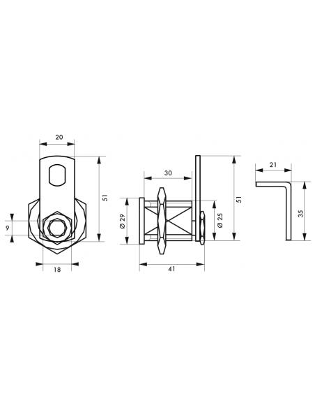 Batteuse TRANSIT2 • 3 clés laiton nickelé 00028412
