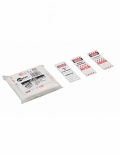 Lot d'étiquettes pour 50 Cadenas de Consignation GB/PL/RU 00091318