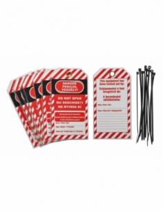 """Lot de 10 étiquettes """"Danger - Ne pas ouvrir"""" langue GB/RO/HU 00091332"""