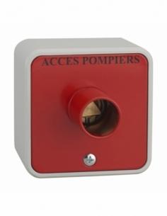 Contacteur à clé pompier en applique triangle 14mm 00012222