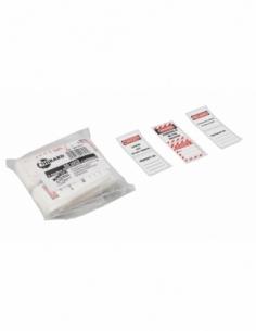Lot d'étiquettes pour 50 Cadenas de Consignation FR/GB/ES 00091317