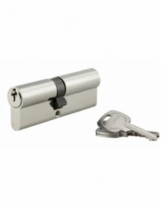 Serrure De Porte Cylindre De Verrouillage Poignée Cylindre avec 3 clés 45 x 45 mm