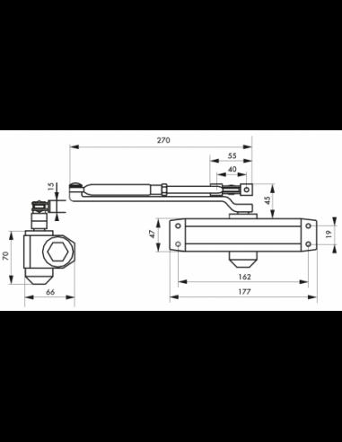 Thirard Ferme-porte hydraulique eco argent force 4