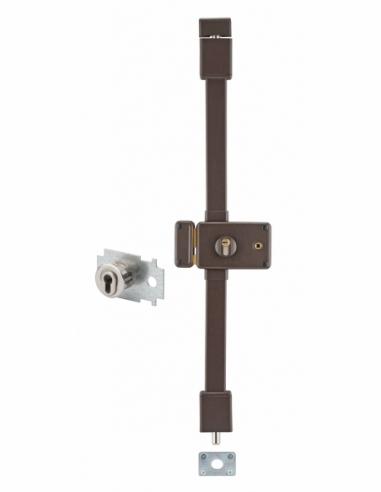 Serrure en applique HORGA marron CP TRANSIT 2 à fouillot 88 x 140 mm gche 4 clés pour porte de 45 mm maxi 00065125