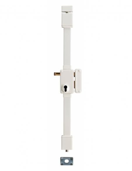BOITIER de Serrure en applique BELUGA CP blanche à tirage 75 x 130 mm droite 00049411