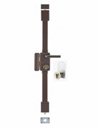 Serrure en applique BELUGA marron CP TRANSIT 2 à fouillot 75 x 130 mm gauche 4 clés 00755120