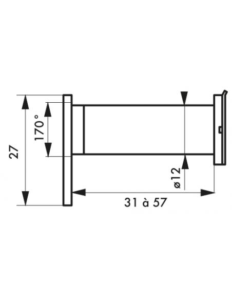 JUDAS 170° laiton poli 00900454