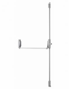 Serrure en applique ANTIPANIQUE 3 points haut et bas réversible laqué gris porte maxi 1150 mm 00009663