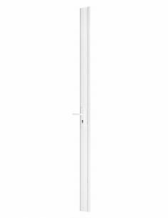 BOIT. Serrure en applique réver. avec gâche pour porte à recouv. haut 2250 mm maxi, blanc 00072073