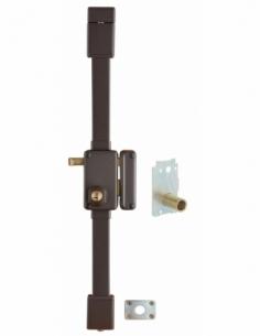 Serrure en applique BELUGA marron CR Ø 23 Transit 2 à tirage 75 x 130 drte 4 clés 00751812