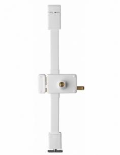 Serrure en applique HORGA blanche CR TRANSIT 2 à tirage 140 x 88 mm gche 4 clés 00058325