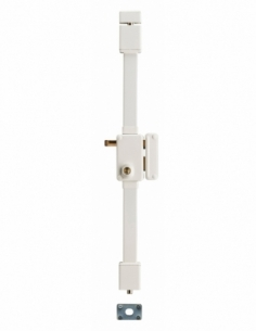 Serrure en applique BELUGA blanche CR TRANSIT 2 à tirage 75 x 130 drte 4 clés 00069411