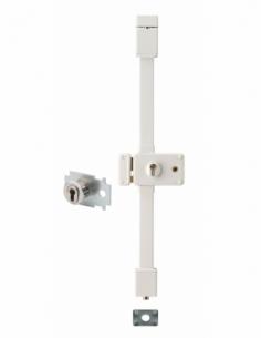 Serrure en applique HORGA blanche CP TRANSIT 2 à fouillot 88 x 140 mm gche 4 clés pour porte de 50 mm maxi 00065128