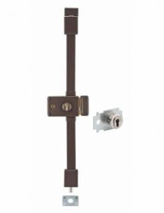 Serrure en applique HORGA marron CP TRANSIT 2 à fouillot 88 x 140 mm drte 4 clés pour porte de 45 mm maxi 00065115