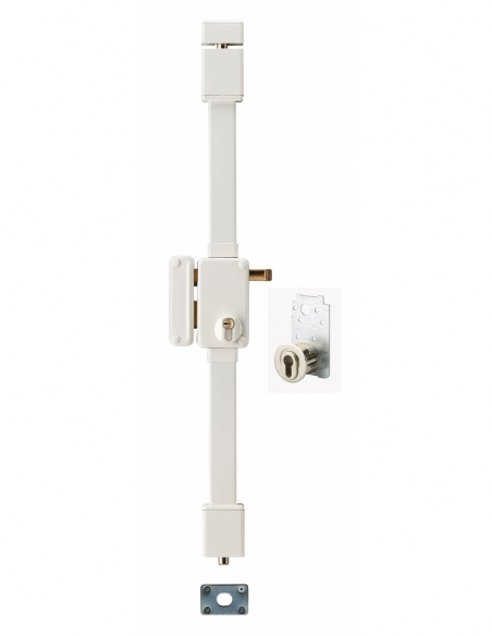 Serrure en applique BELUGA blanche CP TRANSIT 2 à tirage 75 x 130 mm gauche 4 clés 00055021