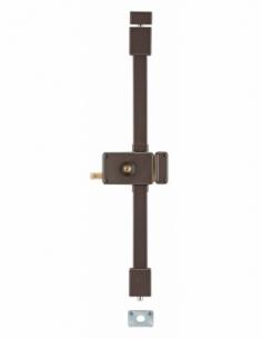 Serrure en applique HORGA marron CR TRANSIT 2 à tirage 140 x 88 mm drte 4 clés 00057315