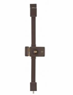 Serrure en applique HORGA marron CR TRANSIT 2 à fouillot 140 x 88 mm gche 4 clés 00057326