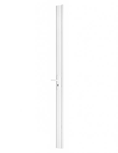 BOIT. Serrure en applique réver. avec gâche pour porte à recouv. haut. 2250 mm maxi, blanc 00074083