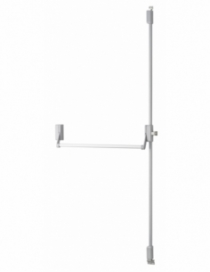 Serrure en applique ANTIPANIQUE 2/3 points haut et bas réversible laqué gris porte maxi 1150 mm 00009551