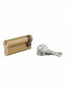DEMI-Cylindre de Serrure 60 x 10 mm 3 clés laiton - HG 5 00056014