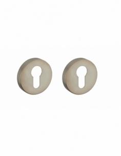 Poignée de porte intérieure Paire de rosaces inox 304 cylindre 00890341