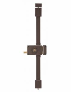 Serrure en applique HORGA marron CR HG5 à tirage 140 x 88 mm drte 4 clés 00037315