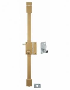 Serrure en applique VERTI bronze CR Ø 23 à Transit 2 à tirage 75 x 130 drte 4 clés 00750210