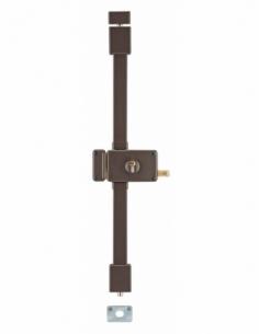 Serrure en applique HORGA marron CP TRANSIT 2 à tirage 140 x 88 mm gche 4 clés 00757325