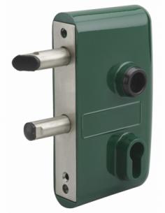 BOITIER Serrure en applique avec coffre pour portail - réversible - vert 6005 00072912