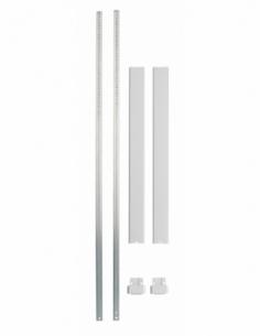 KIT TRINGLE PLATE blanc pour hauteur porte 3,00 m 00032321
