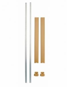 KIT TRINGLE PLATE bronze pour hauteur porte 3,00 m 00032316