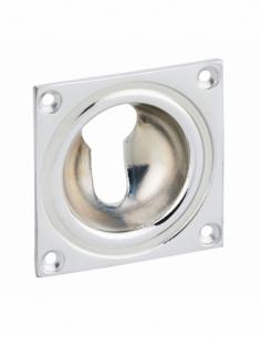 ENTREE à cuvette chromé 60 x 60 mm trou de cylindre profilé 00941265