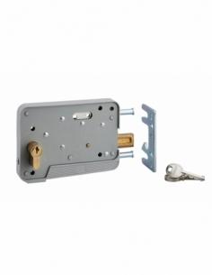 Serrure en applique DE SURETE cyl. 30x10 3 clés réver. pour porte bois ou PVC 00500067