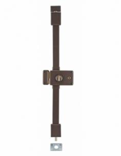 Serrure en applique HORGA marron CP TRANSIT 2 à fouillot 140 x 88 mm gche 4 clés 00757326