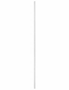 GACHE rasée SERR réver. pour porte à recouv. haut. 2250 mm maxi, blanc 00073080