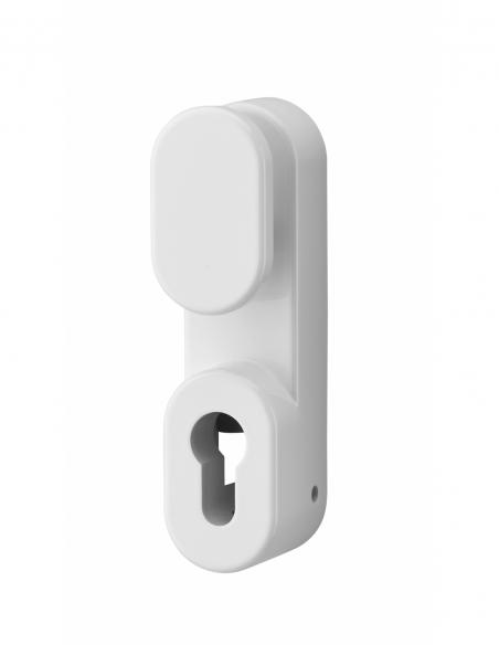 BOUTON DE MANŒUVRE EXTERIEUR laqué blanc - sans cylindre profilé 00009505