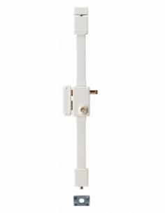 Serrure en applique BELUGA blanche CR HG5 à tirage 75 x 130 gche 4 clés 00079421