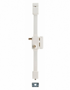Serrure en applique BELUGA blanche CR HG5 à tirage 75 x 130 drte 4 clés 00079411
