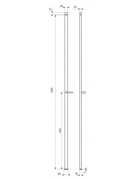 CRÉMONE 2 POINTS à béquille hauteur 2300 blanc 00061311