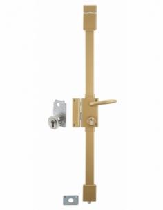 Serrure en applique TARGA bronze CP TRANSIT 2 porte ép.50 à fouillot 75 x 130 mm gche 4 clés 00053121