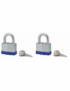 Lot de 2 cadenas SLICE à lamelles 40 mm 4 clés 00290046