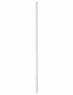 GACHE têtière 90 mm SERR réver. pour porte hauteur 2040 mm maxi, blanc 00073076