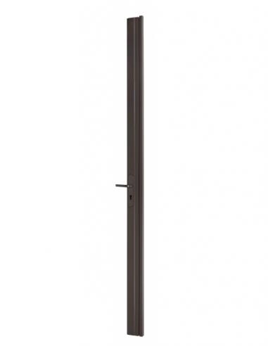 BOIT. Serrure en applique réver. avec gâche pour porte à recouv. haut 2250 mm maxi, marron 00072072