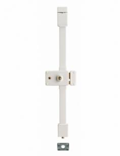 Serrure en applique HORGA blanche CR TRANSIT 2 à fouillot 140 x 88 mm drte 4 clés 00058316