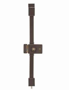 Serrure en applique HORGA marron CR HG5 à fouillot 140 x 88 mm gche 4 clés 00037326