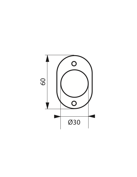 ROSACE laiton Ø 30 mm 00030332