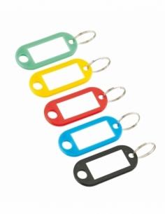 Anneau porte-étiquette couleurs assorties (2 pièces sous coque) 00198309