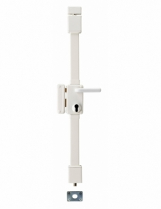 BOITIER de Serrure en applique BELUGA CP blanche à fouillot 75 x 130 mm gche 00049521