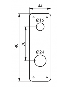 ENTREE acier Ø 23 mm 00030334
