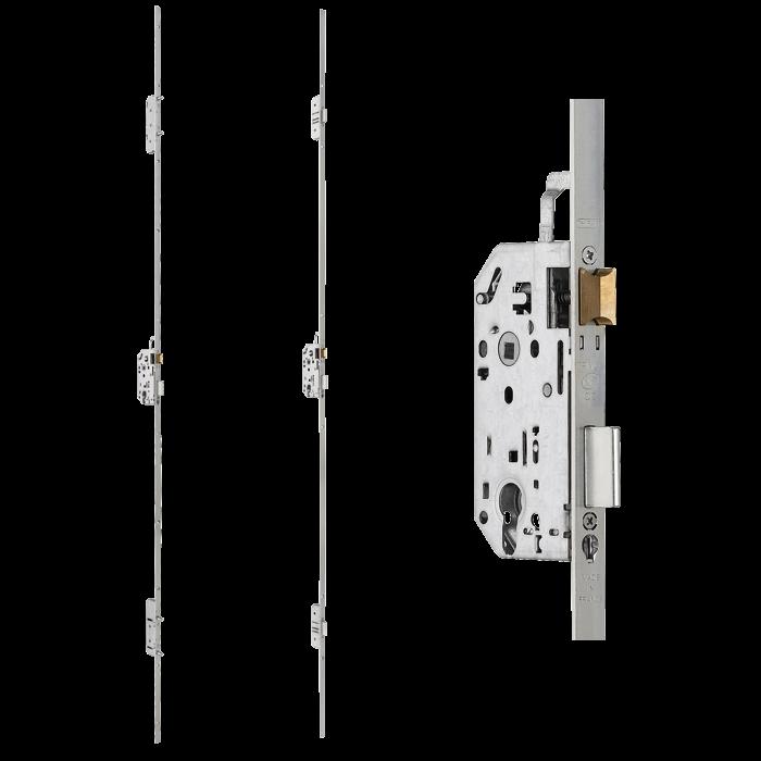 Serrure à Encastrer Multipoint TRIMAX NF QC Thirard - Porte placard coulissante jumelé avec serrure à encastrer